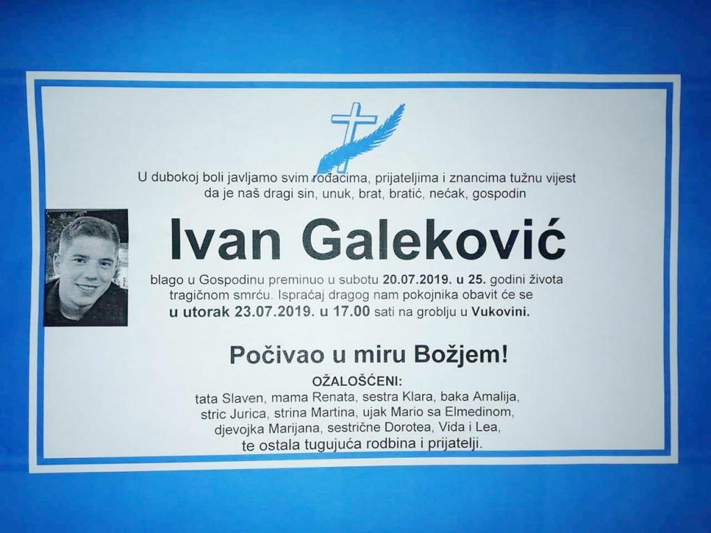 R.I.P. Ivan Galeković - JVP V.Gorica