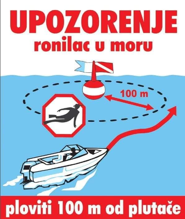 Upozorenje - ronioc(i) u moru