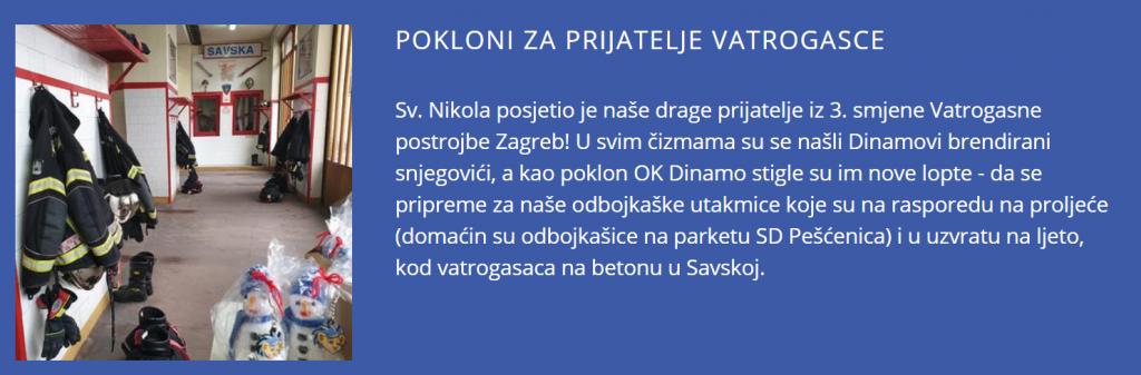 OK Dinamo iznenadio vatrogasce!
