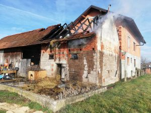 Požar gospodarskog objekta u Božićima, Donji Stupnik