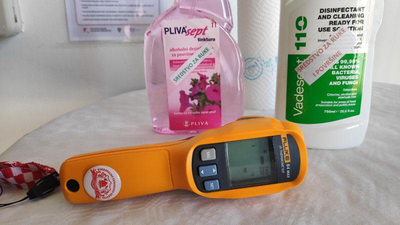Laserski termometar za zaštitu od COVID-19 u DVD Stupnik