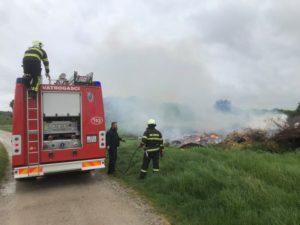 Izvid DVD Stupnik radi neprijavljenog spaljivanja granja u Verničkoj ulici
