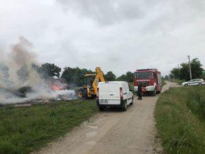 Izvid 12.05.2020. radi neprijavljenog spaljivanja granja u Verničkoj ulici