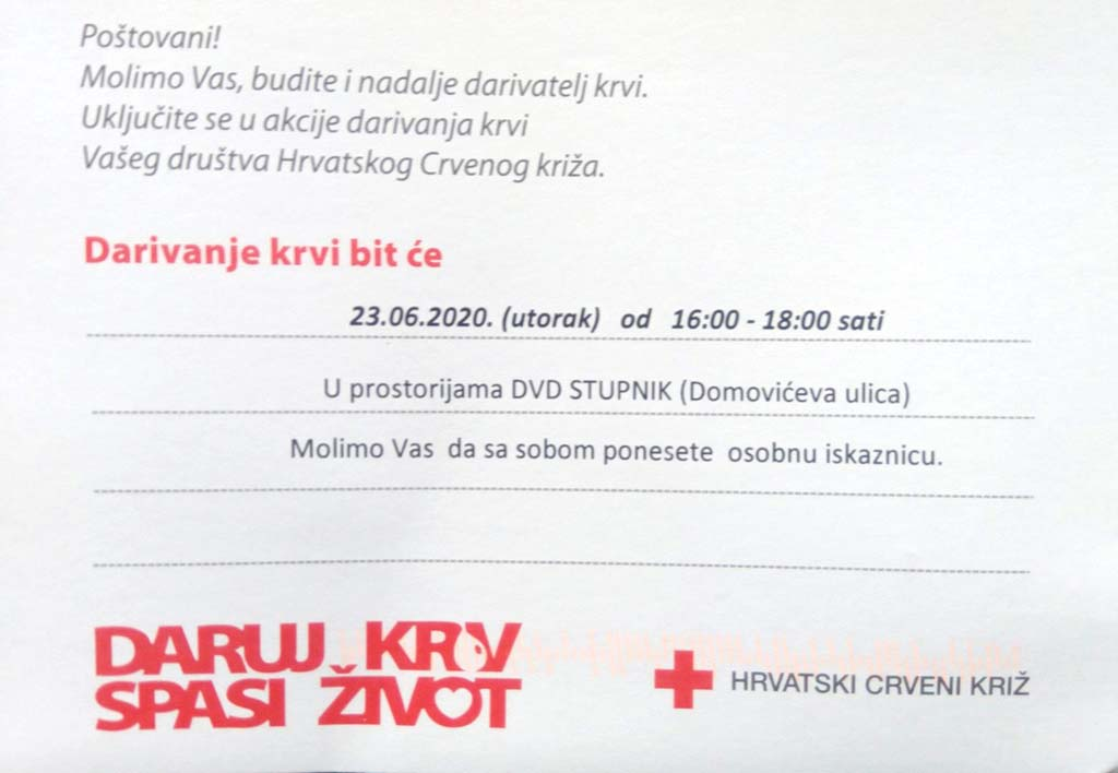 Daruj krv - spasi život u DVD-u Stupnik