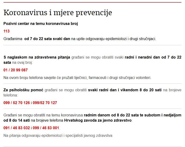 Coronavirus - COVID-19 mjere zaštite