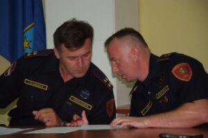 Predsjednik Igor Klemenčić i zapovjednik Josip Vađić - DVD Stupnik