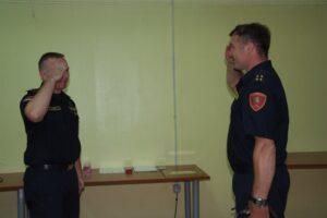 Zapovjednik Josip Vađić i predsjednik Igor Klemenčić - DVD Stupnik